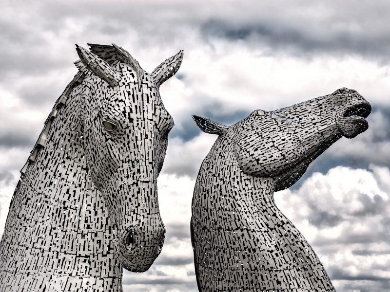 The Falkirk Kelpies